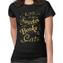 life is sweeter with books & cats #2 Women's T-Shirt
