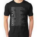 Gibbs' Rules - Updated - White Version - Front Unisex T-Shirt