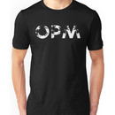 OPM [white, no frame] Unisex T-Shirt
