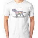 Anatomy of a Pit Bull Unisex T-Shirt