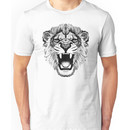 roaring lion t-shirt on lite Unisex T-Shirt