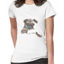 Funny Mustache Pug Women's T-Shirt