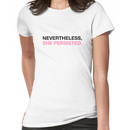 Nevertheless She Persisted - Black - Pink Women's T-Shirt