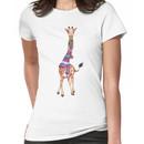Cold Outside - Cute Giraffe Illustration Women's T-Shirt
