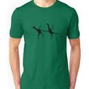 Happy Dancing Giraffes - Black Unisex T-Shirt