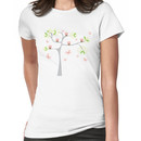 Whimsical Pink Cupcakes Tree Women's T-Shirt