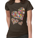 Whimsical Spring Flowers Valentine Hearts Trio Women's T-Shirt