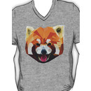 Red Panda Tee Shirt V-Neck