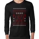 EAT THE RUDE - ugly christmas sweater  Long Sleeve