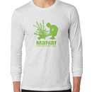 MayDay 2008: a celebration of work and family - Light Green print Long Sleeve