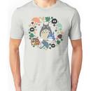 My Neighbor Totoro Wreath - Anime, Catbus, Soot Sprite, Blue Totoro, White Totoro, Mu Unisex T-Shirt