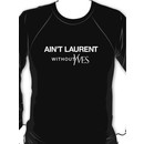 Ain't Laurent without Yves - white Sweatshirt