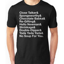 SEINFELD - JERRY SEINFELD CATCHPHRASES GEORGE COSTANZA Unisex T-Shirt