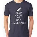 KEEP CALM AND USE OMNISLASH (WHITE) Unisex T-Shirt