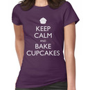 Keep Calm and Bake Cupcakes Women's T-Shirt