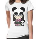 Kokeshi Doll with Panda Women's T-Shirt