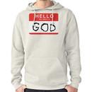 Hello my name is GOD (Die Antwoord - Ugly Boy) Hoodie (Pullover)