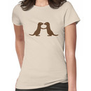 Otters Holding Hands Women's T-Shirt