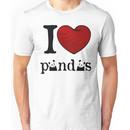 I heart Pandas Unisex T-Shirt