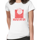 """Funny Volleyball """"Practice Safe Sets"""" Women's T-Shirt"""