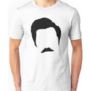 Swanson Mustache Man Unisex T-Shirt