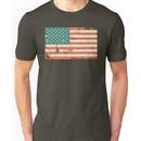 Grungy US flag Unisex T-Shirt