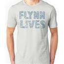 Flynn Lives Distressed Dark Blue Unisex T-Shirt
