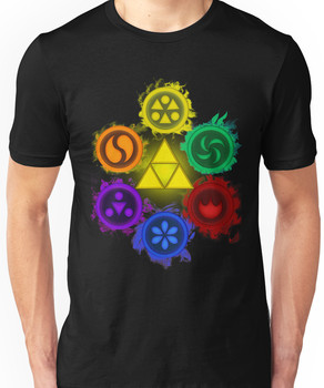 Legend of Zelda - Ocarina of Time - The 6 Sages Unisex T-Shirt