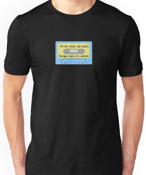Driver Picks the Music, Shotgun Shuts His Cakehole (blue) Unisex T-Shirt
