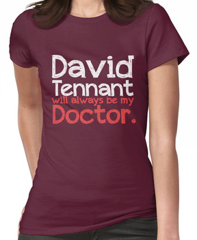 David Tennant will always be my Doctor - RED Women's T-Shirt