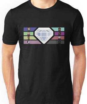 Pixel White Diamond / Community Unisex T-Shirt