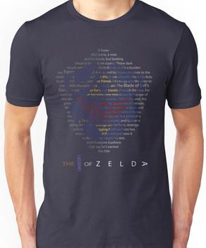 The Legend of Zelda Shield Poem Unisex T-Shirt