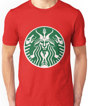 Red Cup Baphomet Unisex T-Shirt
