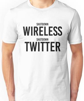 """STORMZY SHUT UP """"shutdown wireless, shutdown twitter"""" Unisex T-Shirt"""