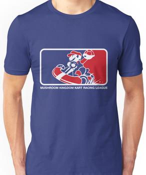Mushroom Kingdom Kart Racing League Unisex T-Shirt