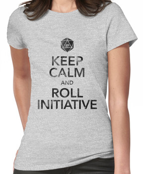 Keep Calm and Roll Initiative (Black Text) Women's T-Shirt