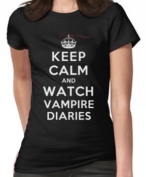 Keep Calm and Watch Vampire Diaries (DS) Women's T-Shirt