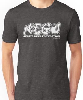 """Jessie Rees Foundation """"NEGU"""" in White Unisex T-Shirt"""