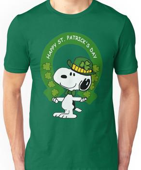 Snoopy Happy St Patricks Day Unisex T-Shirt