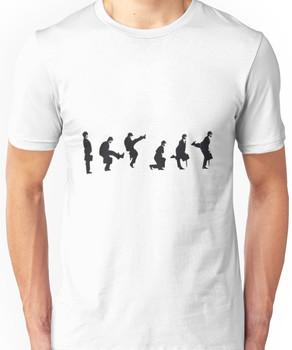 Silly Walk by Banksy Unisex T-Shirt