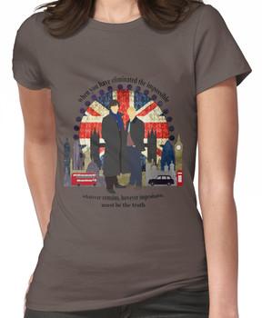 Eliminate the Impossible (Black Text) Women's T-Shirt