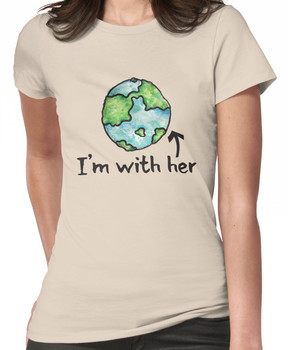 I'm with her mother earth day Women's T-Shirt