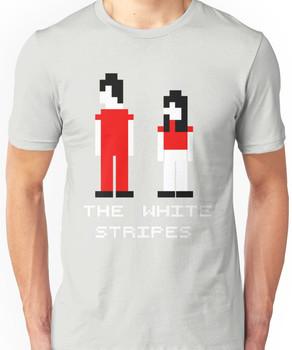 The White Stripes Pixel. Unisex T-Shirt