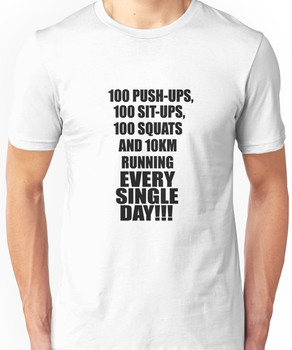 One Punch-Man Saitama's Workout Routine Unisex T-Shirt