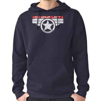 """""""On Your Left Running Club"""" Hybrid Inverted Hoodie (Pullover)"""