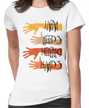 Japan needs helping hands Women's T-Shirt