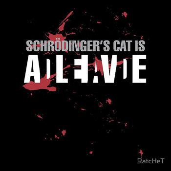 Schrödinger's Cat - Dark Colours T-Shirt by RatcHeT