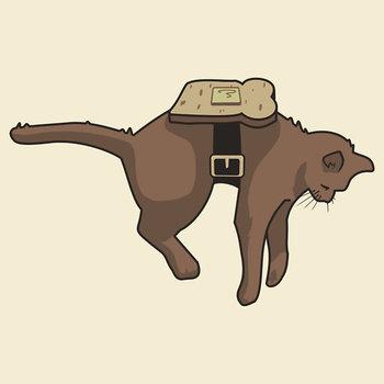 Anti-Gravity cat T-Shirt