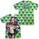 Suicide Squad Harley Bubble Skull Adult Sublimation Print T-Shirt from Warner Bros.
