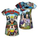 Wonder Woman Comic Cover Juniors Sublimation Print T-Shirt from Warner Bros.